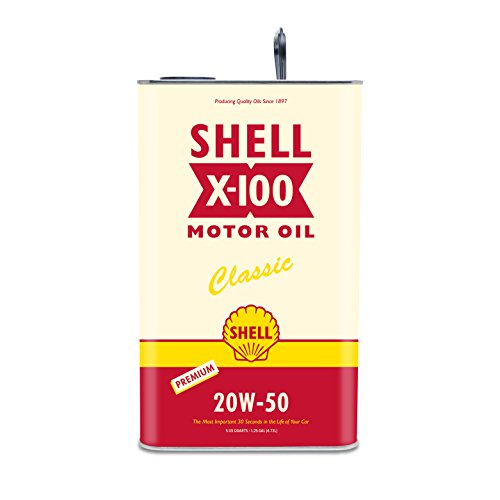 Classic Car Oil - Shell X-100 SH-39505-01 Classic Car Motor Oil 20W-50, 5-Quart