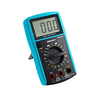 all-sun Auto / Manual Range Digital Multimeter Meter DMM Multi Tester Voltmeter Ammeter Ohmmeter AC / DC Voltage DC Current Resistance Continuity Diode battery Meter with LCD