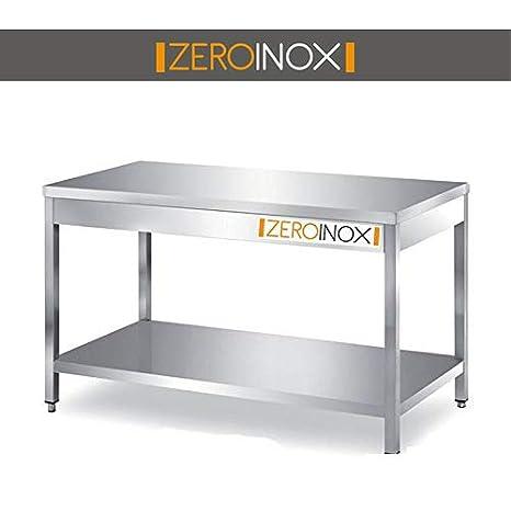 ZeroInox Mesa Bajo encimera de Acero Inoxidable con 83L ...