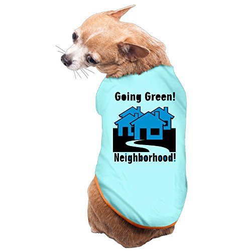 Vgd Go Green Neighborhood art logo SkyBlue Fashion Dog Coat