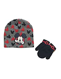 Mickey Mouse Baby Boys Toddler Winter Hat & Mitten Set
