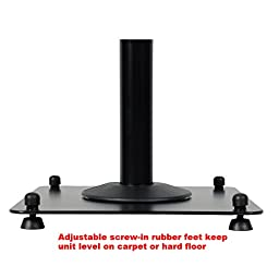 VideoSecu 2 Heavy duty PA DJ Club Adjustable Height Satellite Speaker Stand Mount - Extends 26.5'' to 47'' (i.e. Bose, Harmon Kardon, Polk, JBL, KEF, Klipsch, Sony, Yamaha, Pioneer and others) 1B7