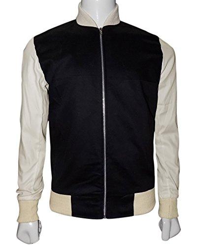 The American Fashion Ansel Elgort Baby Driver Varsity Jacket free shipping