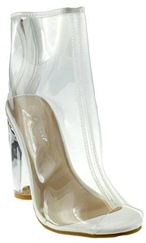 Women High Heels Fashion Breathable Sandals (White) - 6