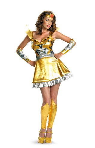 Disguise Unisex Adult Sassy Deluxe Bumblebee, Multi, Medium (8-10) Costume