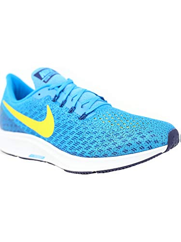 Nike Men's Air Zoom Pegasus 35 Blue Orbit/Bright Citron Ankle-High Mesh Running Shoe - 6.5M by Nike (Image #2)