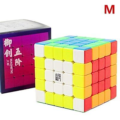 LiangCuber Yongjun Yuchuang V2 M 5x5 Speed Cube YongJun YJ YuCuang 2M 5x5x5 Magnetic Magic Cube 62mm Stickerless (Magnetic Version): Toys & Games