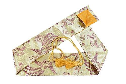 Makoto Synthetic Silk Handmade Sword Bag Pheonix on Gold Style 202