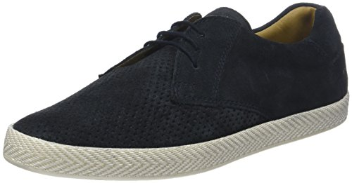 Base London Keel, Scarpe Stringate Derby Uomo Blu (Suede Navy 403)