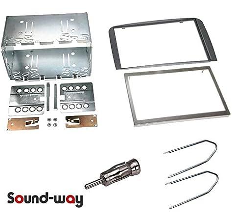 Sound-Way Kit Caja de Montaje Marco Adaptador autoradio 2 DIN para Alfa Romeo 147 / Alfa GT - Black Line Color Gris Oscuro: Amazon.es: Coche y moto