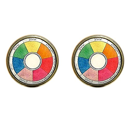 Vintage earring, Wheel Artists Jewelry Teachers Students Art earring Artists