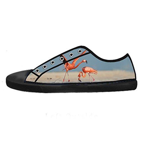 Scarpe Custom Di Shoes In Le Sopra Ginnastica Delle Modello Da Lacci Alto Flamingo Canvas Tela Men's I qxZ8wrqUf