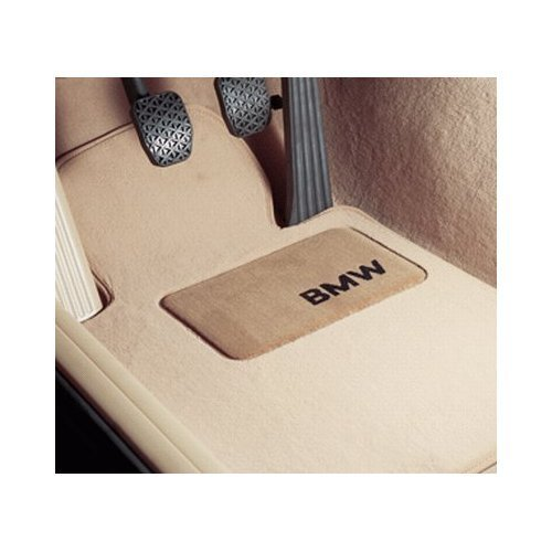 - BMW Carpeted Floor Mats with BMW Lettering Heel Pad- Set of 4- BEIGE - (E46 3 SERIES ALL COUPE & SEDAN MODELS from 1998 to 2006)