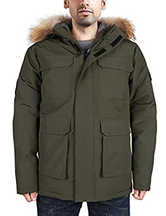 Amazon.com: HARD LAND Men's Goose Down Parka Winter Coats
