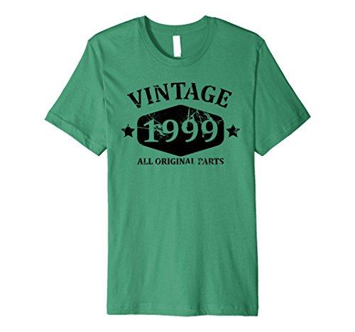 Mens Funny Vintage 1999 19th Birthday Gift T-shirt Best Emoji Tee Medium Kelly Green