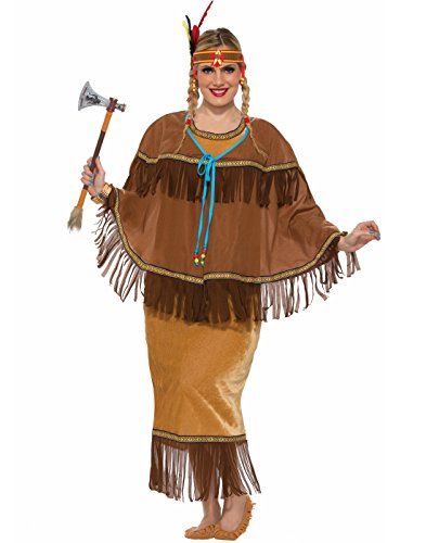 Forum Novelties Women's Native American Costume, Multi, Plus -