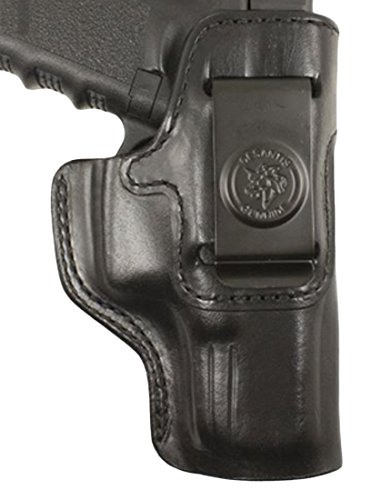 DeSantis Inside Heat Inside Fits M&P45 Shield Leather Right Hand Pants Holster, Black
