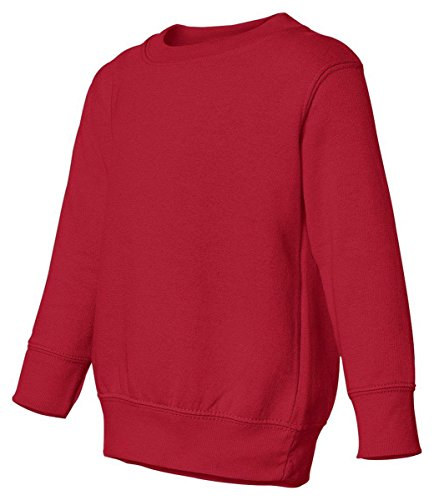 Rabbit Skins Toddler Juvenile Blended Fleece Sweatshirt, Red, 4T