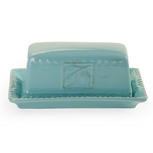 Signature Housewares Sorrento Collection Butter Dish, Aqua