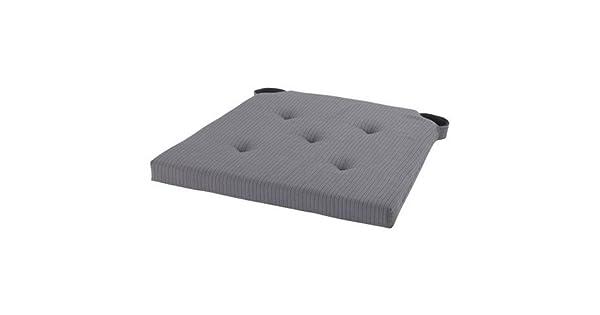 Amazon.com: IKEA JUSTINA Gris Cojín de silla pad, tela con ...