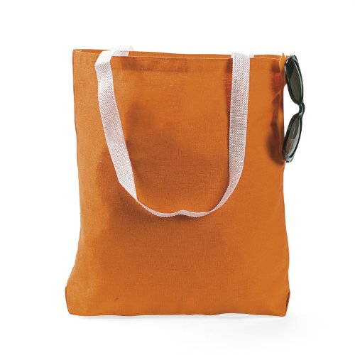 LARGE ORANGE CANVAS TOTE DOZEN