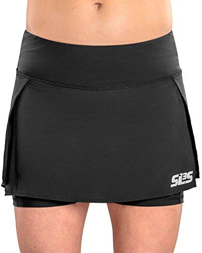 - SLS3 Women's Skort | Tennis Skirt | Black Golf Skort - Running Skirts with Pockets | Womens Golf Apparel (M, Black)