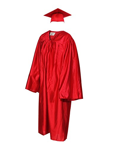 Kindergarten Graduation Cap and Gown (Child's Size) (3'10-4'0, Red)]()