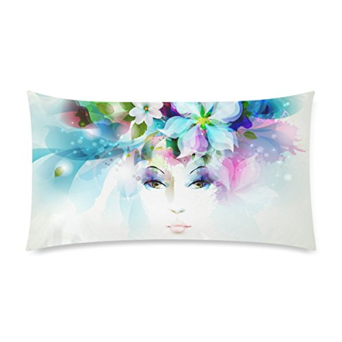 Corolla Girl Deisign Custom Zippered Pillowcase Cotton Pillow Cover Two Side King Size 20x36 Inch Corolla Pillow