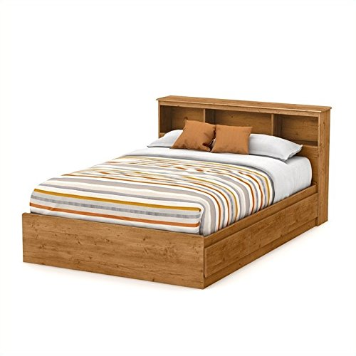 South Shore Little Treasures Full Mates Bed with 3 Drawers, 54-Inch, Country Pine (Underbed Storage Pine)