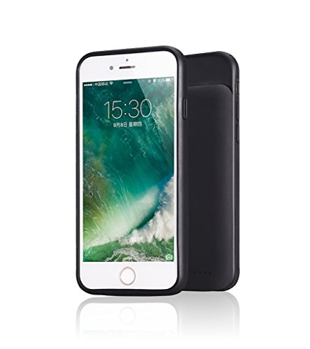 RUNSY iPhone 7 Plus / 6S Plus / 6 Plus Battery Case, Ultra Thin 5000mAh Rechargeable Extended Battery Charging Case, External Battery Charger Case, Backup Power Bank Case (5.5 inch)