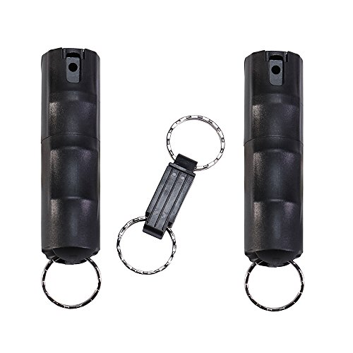 VEXOR Police Strength Pepper Spray, Self-Defense Keychain for Women and Men, Hard Plastic Case and Quick-Release Key Ring for Convenient Protection (2 Pack) - ZARC International