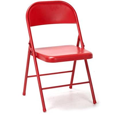 Novogratz All Steel Folding Chair Red Pack of 2 + Cleaning Cloth  sc 1 st  Amazon.com & Amazon.com: Novogratz All Steel Folding Chair Red Pack of 2 + ...