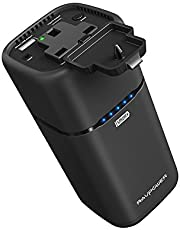 USB C Portable Charger RAVPower 20100mAh Built-in AC Outlet Power Bank External Battery Pack (Type-C Port, Dual USB iSmart Ports) for Laptops, Smartphones and More