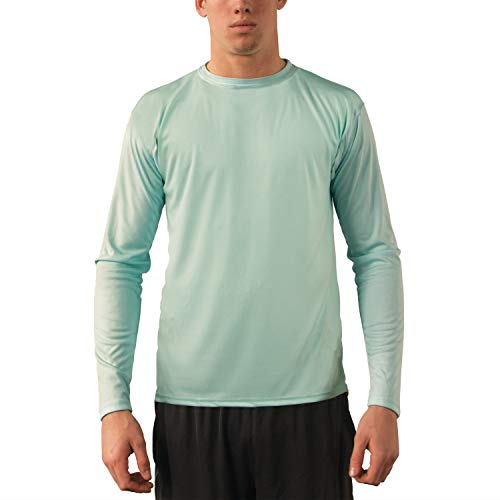 Vapor Apparel Men's UPF 50+ UV Sun Protection Performance Long Sleeve T-Shirt Large Seagrass (Snag Polo Protection Performance)