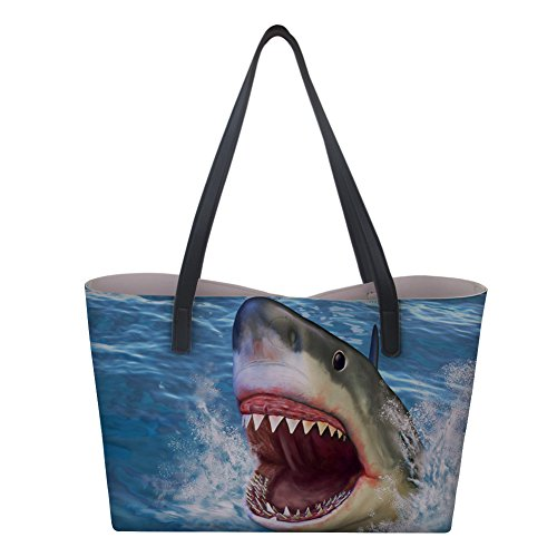 for Shark PU Work Classic Nopersonality for Satchels Leather Tote Travel Handbags Capacity Large Women for Bags Girls nIBaq6
