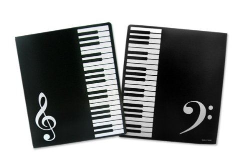 Music Themed PVC Ring Binder - PVC 3 O-Ring Size 25mm A4 OfficeCentre