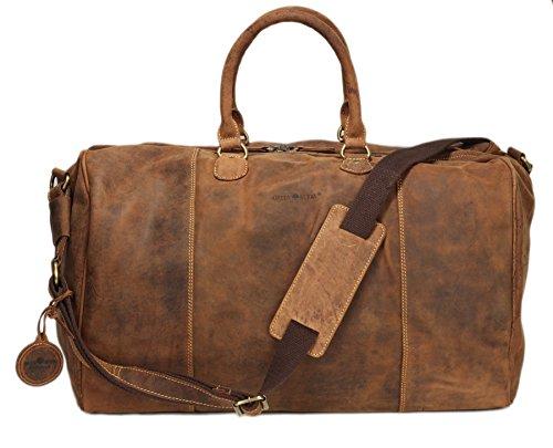 Greenburry Vintage borsone da viaggio pelle 42 cm brown