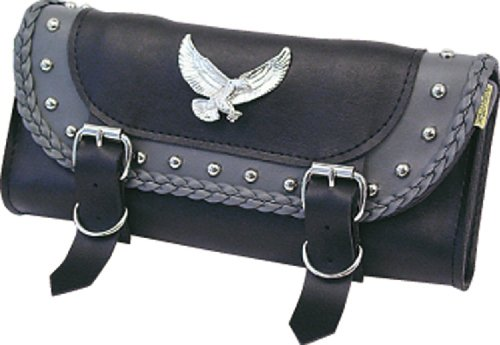 Studded Pouch Leather Tool (Willie & Max Gray Thunder Studded Tool Pouch - 12in.W x 5in.H x 2.5in.D)