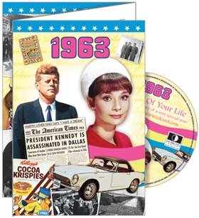 1963 The Time of Your Life DVD Greeting Card: 55th Birthday or 55th Anniversary (55th Birthday Card)