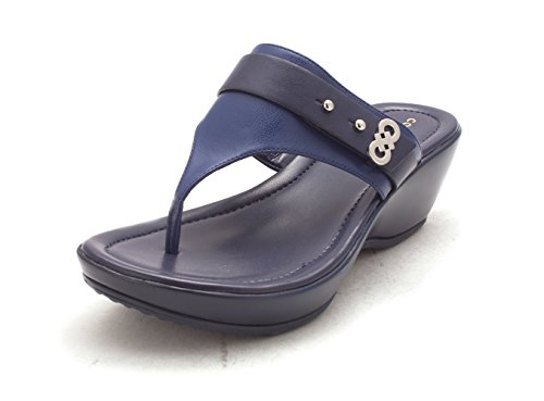 Cole Haan Womens 14A4134S Open Toe Casual Platform Sandals Marine Blue vyAKB