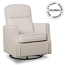 Delta Children Blair Nursery Glider Swivel Rocker Chair, Cream
