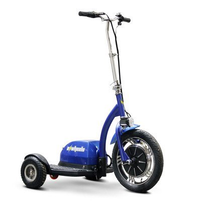 EW-18 Ewheels Stand and Ride Scooter Color: Blue by Elect...