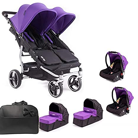 f329ba138 Baby Monsters Silla Gemelar Easy Twin Silver 3.0.S + 1 Capazos + Regalo de