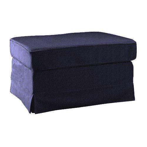 Pimp your Couch Ektorp Hocker Bezug - Stoff Indiana [Lila]