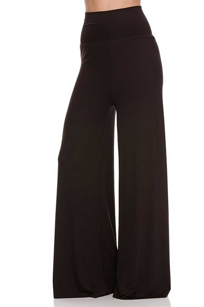 Superline Solid Palazzo Pants 3X-large Brown