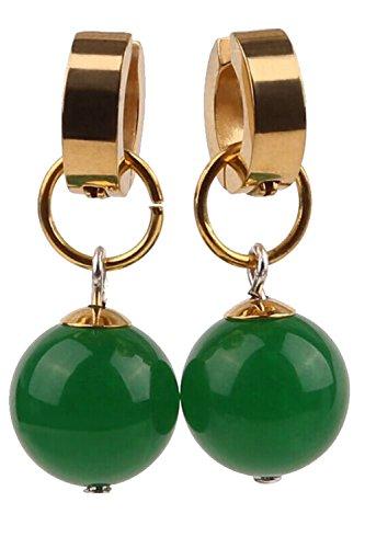 Dragon Ball Z Son Goku Zamasu Kai Potara Earring Accessories Pendent Green (One pair)