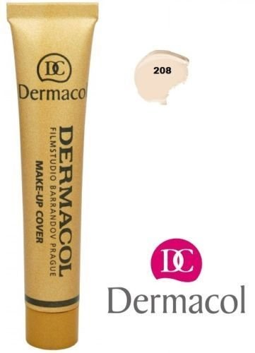 Dermacol Make Up Cover Waterproof Hypoallergenic SPF30 Shade 208 1 Ounce
