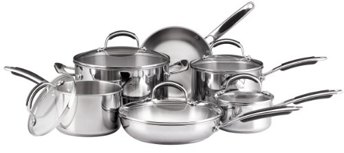 kitchenaid pots and pans kitchenaid cookware set stainless steel 11piece amazonca home kitchen