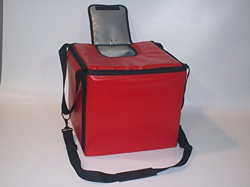TCB Insulated Bags MB-HWK-Red Food and Beverage Carriers: Hawking Vending Bag with Dispensing Lid, 15.5'' x 15.5'' x 14'', Red by TCB Insulated Bags