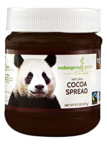 Endangered Species Natural Cocoa Spread, Panda, 9.7 Ounce
